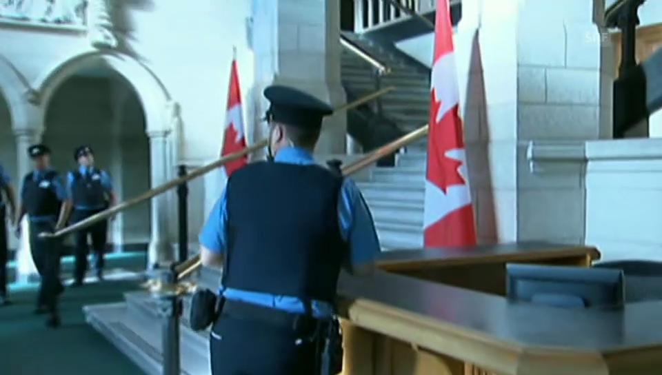 Polizeieinsatz im Parlamentsgebäude Ottawa