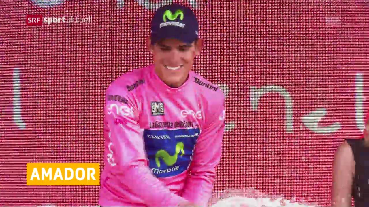 Andrey Amador ist nach der 13. Etappe neuer Giro-Leader