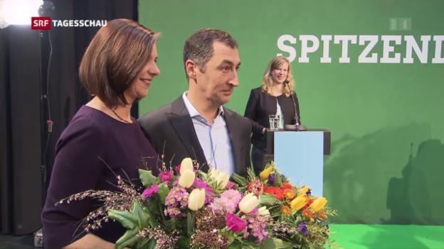 Video «Deutsche Grüne empfehlen sich als Koalitionspartner» abspielen