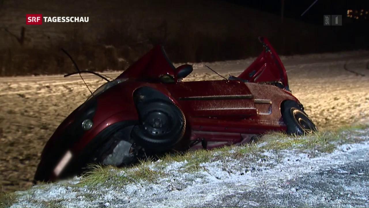 Unfall auf Staffelegg-Strasse