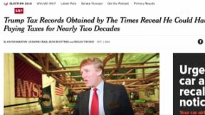 Video «New York Times enthüllt Trumps Steuererklärung aus dem Jahr 1995» abspielen