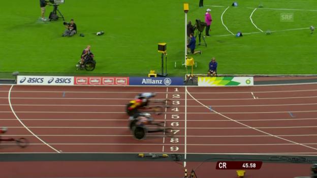 Video «Hug verfehlt Medaille über 400 m knapp» abspielen