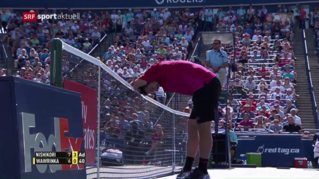 Video «Wawrinka muss sich Nishikori geschlagen geben» abspielen
