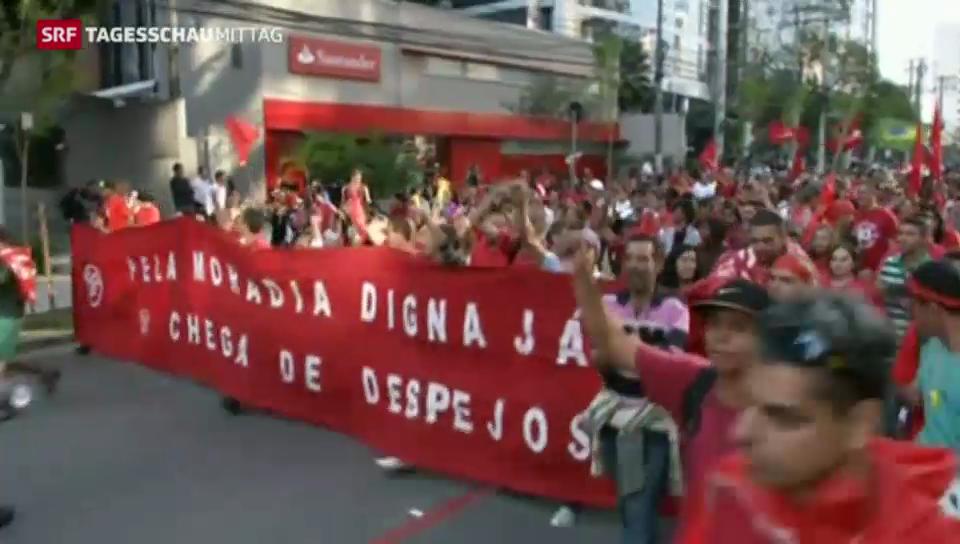 Soziale Proteste vor Fussball-Weltmeisterschaft