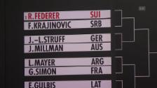 Link öffnet eine Lightbox. Video Startgegner von Federer und Wawrinka in Basel bekannt abspielen
