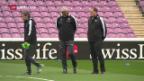 Video «Die Schweizer Nati vor dem Qualispiel gegen Lettland» abspielen