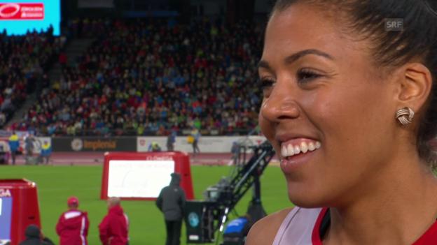 Video «Leichtathletik-EM: Mujinga Kambundji im Interview» abspielen