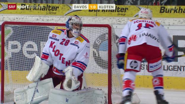 Video «Eishockey: NLA, Davos-Kloten» abspielen