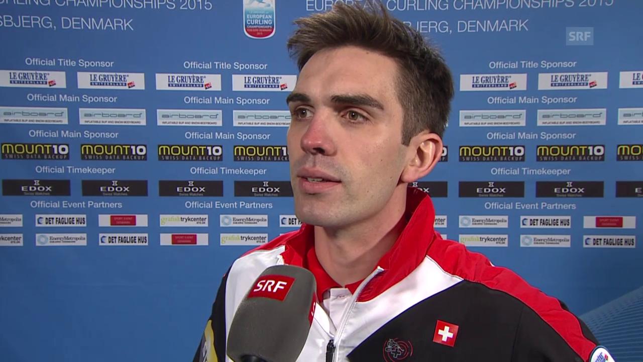 Curling: EM 2015, SUI-SWE, Interview De Cruz