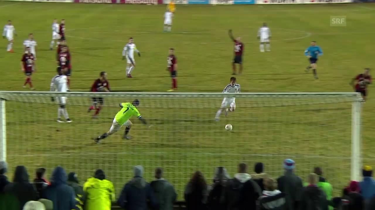 Fussball: Basel - Münsingen, Tore 1. Halbzeit