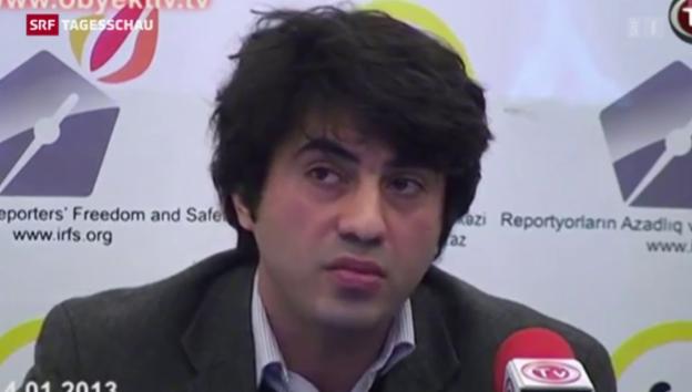 Video «Aserbaidschanischer Regimekritiker in der Schweiz angekommen» abspielen