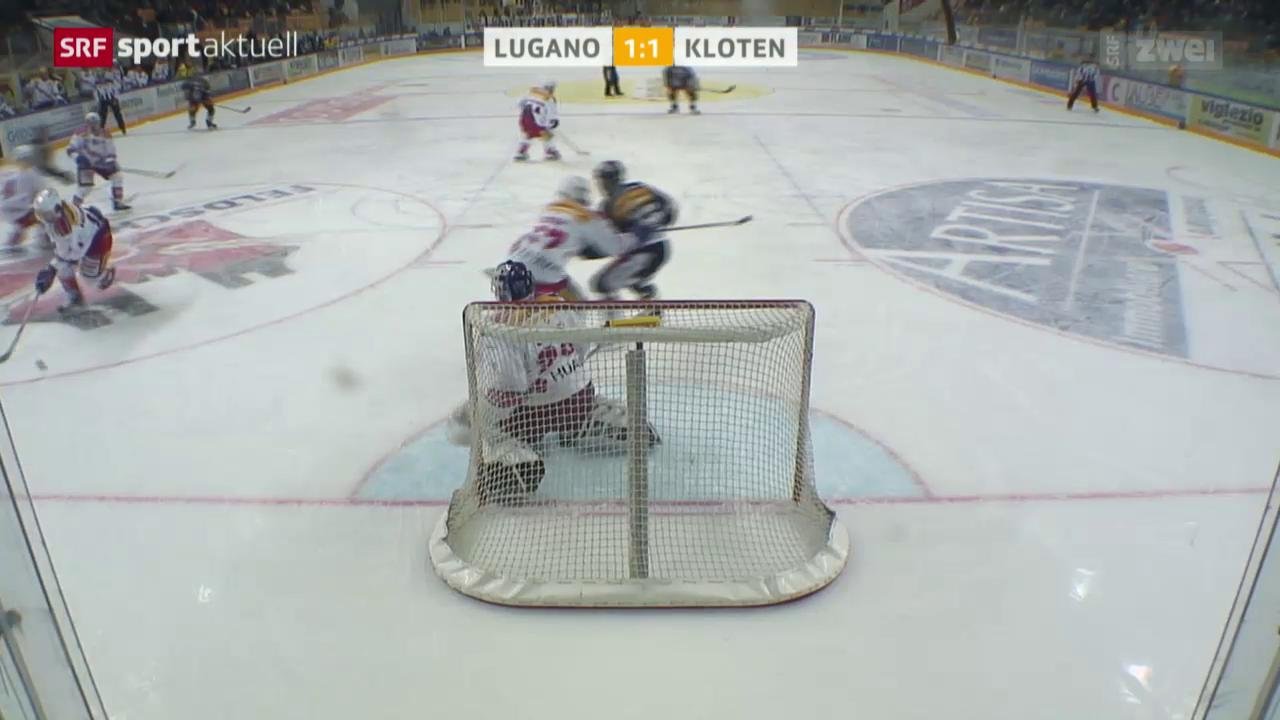 Eishockey: NLA, Lugano - Kloten