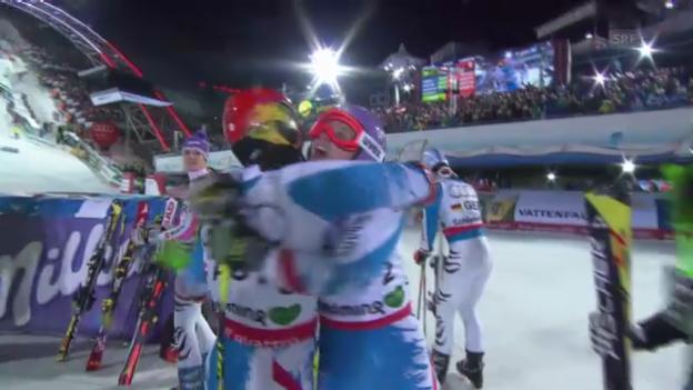 Video «Ski-WM: Teamevent, Final, Österreich-Schweden» abspielen