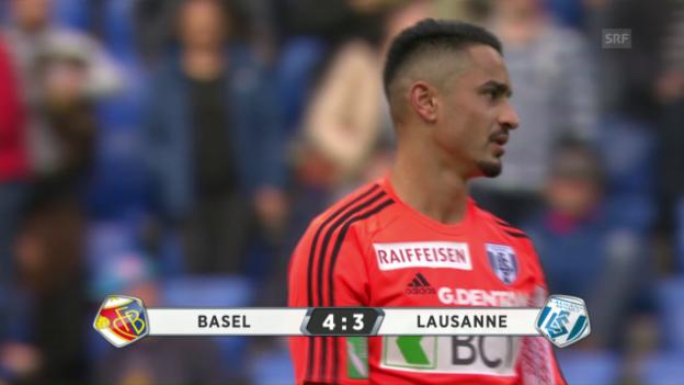Video «Zusammenfassung Basel - Lausanne» abspielen