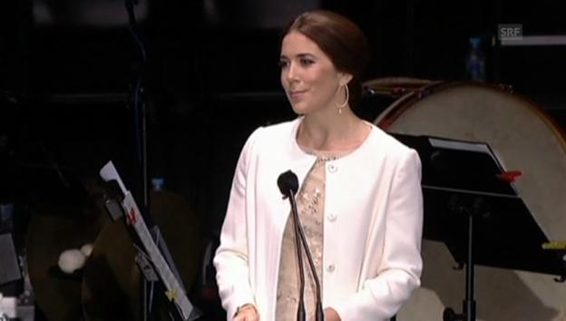 Video «Dänemark? Kronprinzessin Mary gesteht peinliche Wissenslücke» abspielen