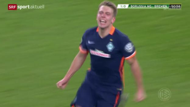Video «Fussball: Mönchengladbach-Bremen» abspielen