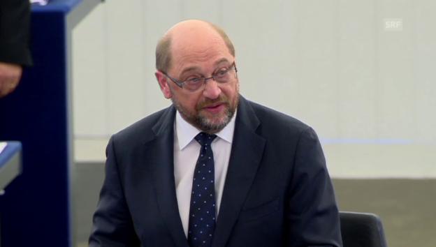 Video «EU-Parlamentspräsident Schulz zollt Badawi Respekt» abspielen