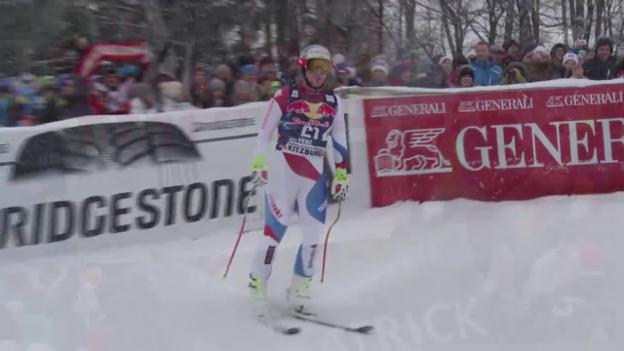 Video «Ski alpin: Weltcup Männer, Abfahrt Kitzbühel, Fahrt Feuz» abspielen