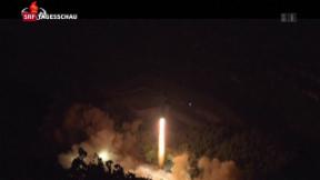 Video «Nordkorea feuert Mittelstreckenrakete ab» abspielen