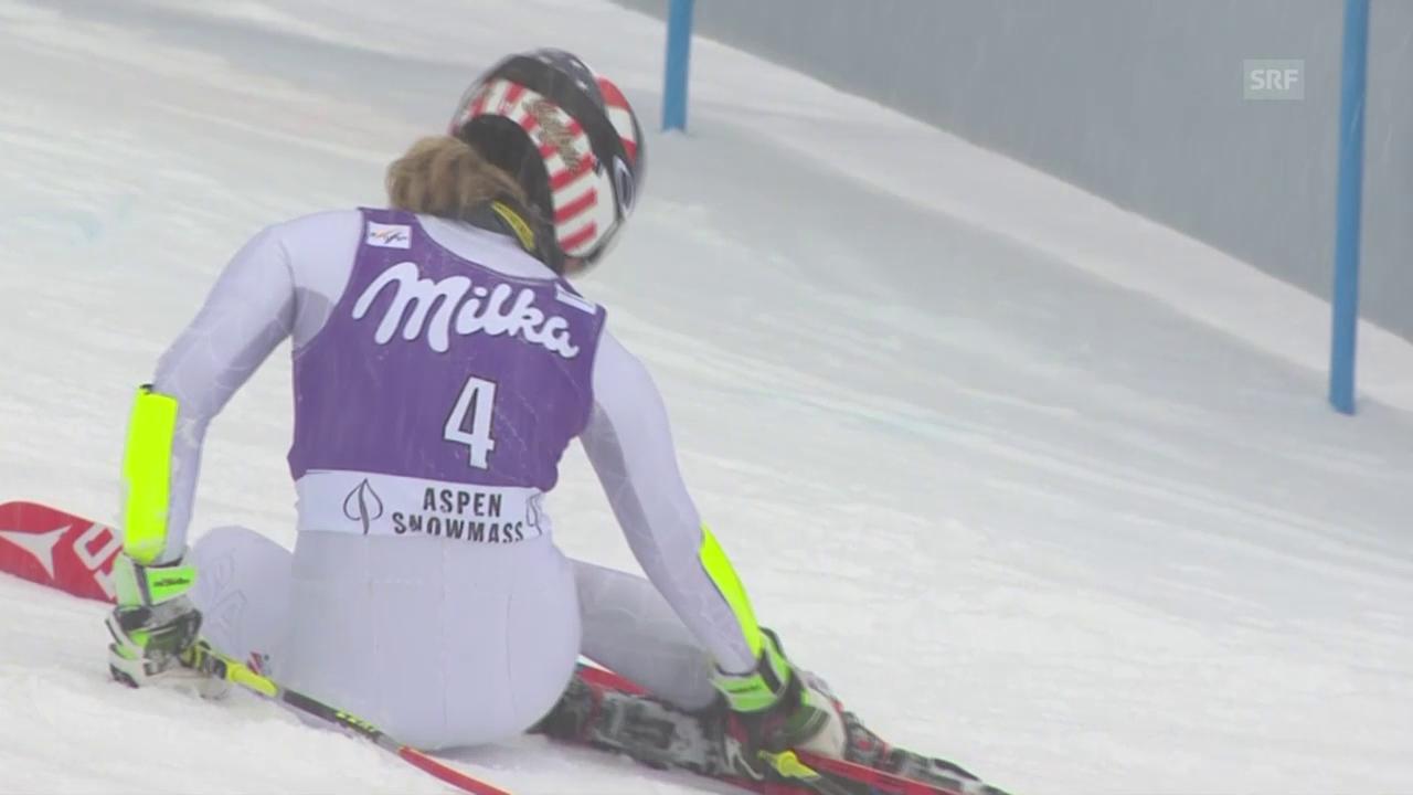 Ski Alpin: Shiffrin scheidet aus
