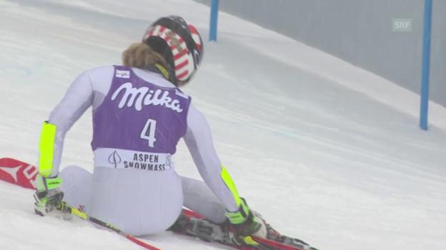 Video «Ski Alpin: Shiffrin scheidet aus» abspielen