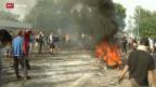 Video «FOKUS: Tränengas-Einsatz gegen Flüchtlinge» abspielen