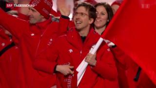 Video «Olympische Winterspiele eröffnet» abspielen