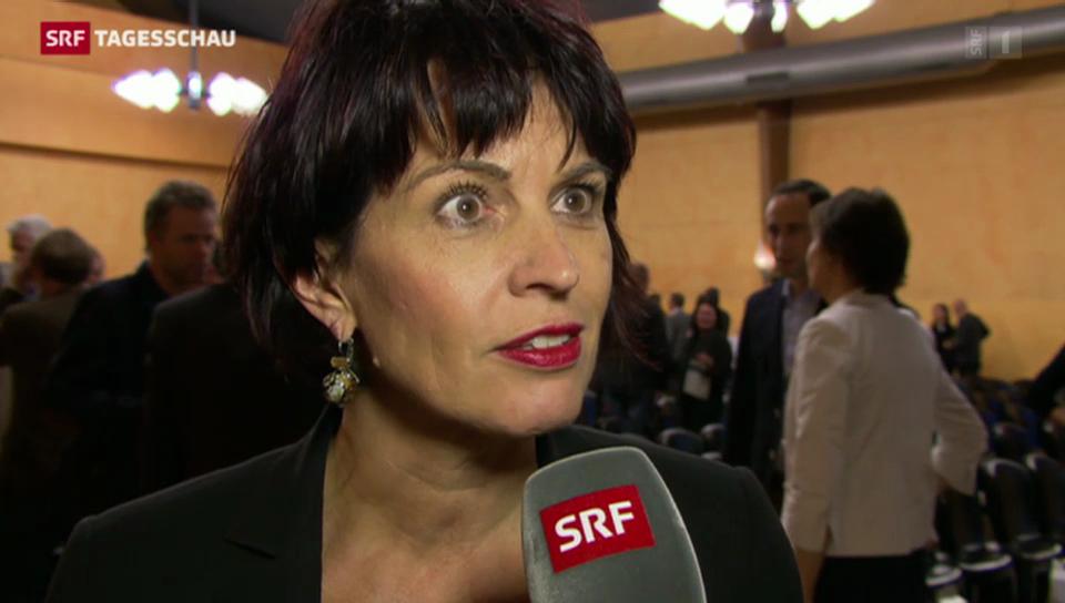 Energieministerin Doris Leuthard zur Mühleberg-Abschaltung
