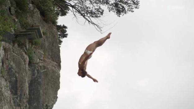 Video «Klippenspringen im Tessin: 20 Meter in die Tiefe» abspielen