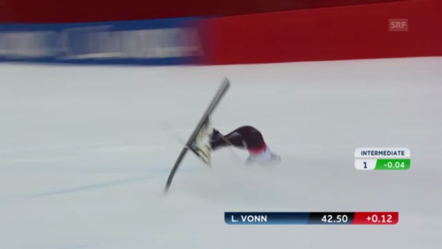 Video «WM-Super-G 2013: Der Sturz von Lindsey Vonn» abspielen
