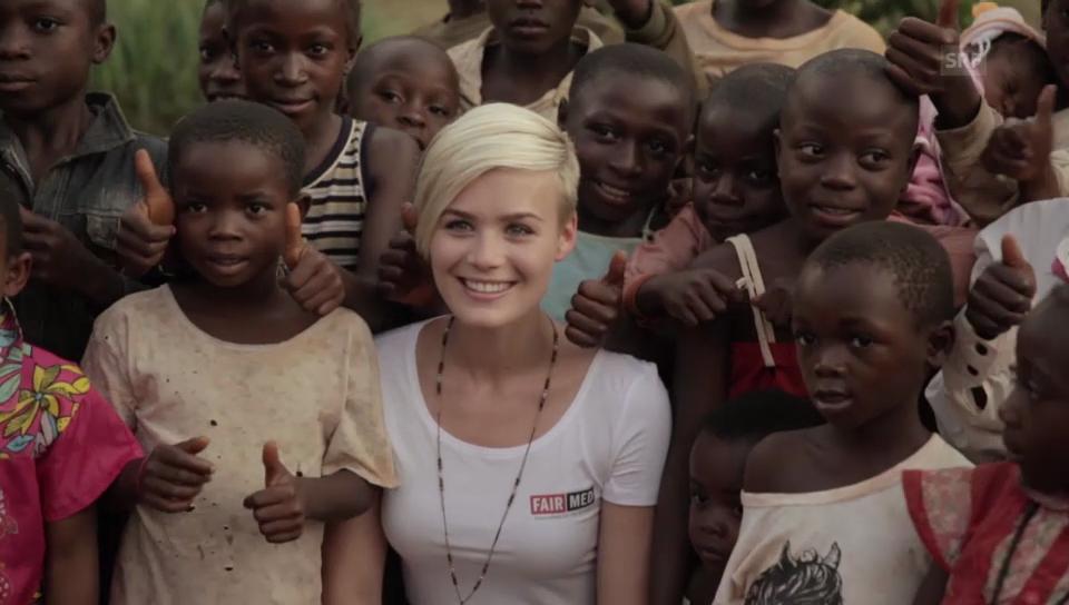 Dominique Rinderknecht im Einsatz in Kamerun