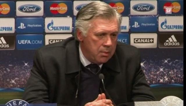 Carlo Ancelotti an der Medienkonferenz