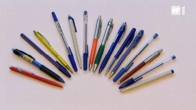 Video «Kugelschreiber im Test: Welche Kulis kleckern» abspielen