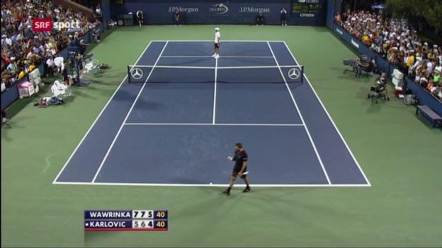 Video «Wawrinka auch gegen Karlovic ohne Satzverlust («sportaktuell»)» abspielen