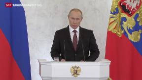 Video «Putin treibt Anschluss der Krim voran» abspielen