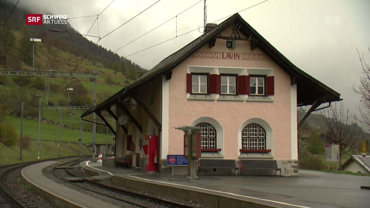 Bahnhof Lavin bleibt im Dorf
