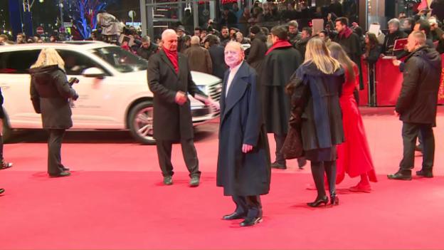 Video «Bruno Ganz: Premiere in Berlin» abspielen