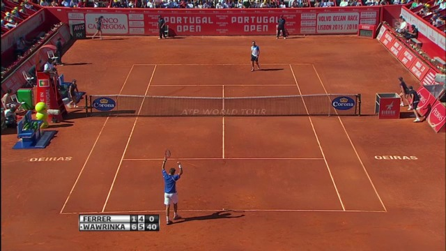 Final Estoril: Wawrinka - Ferrer (wichtigste Punkte)