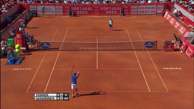 Video «Final Estoril: Wawrinka - Ferrer (wichtigste Punkte)» abspielen