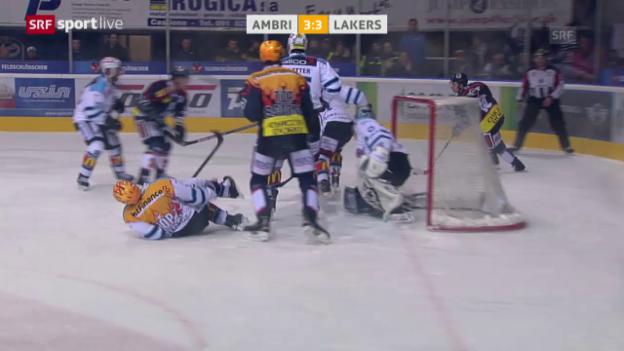 Video «Eishockey: Playout-Final, Unsportlichkeiten Giroux Danielsson» abspielen
