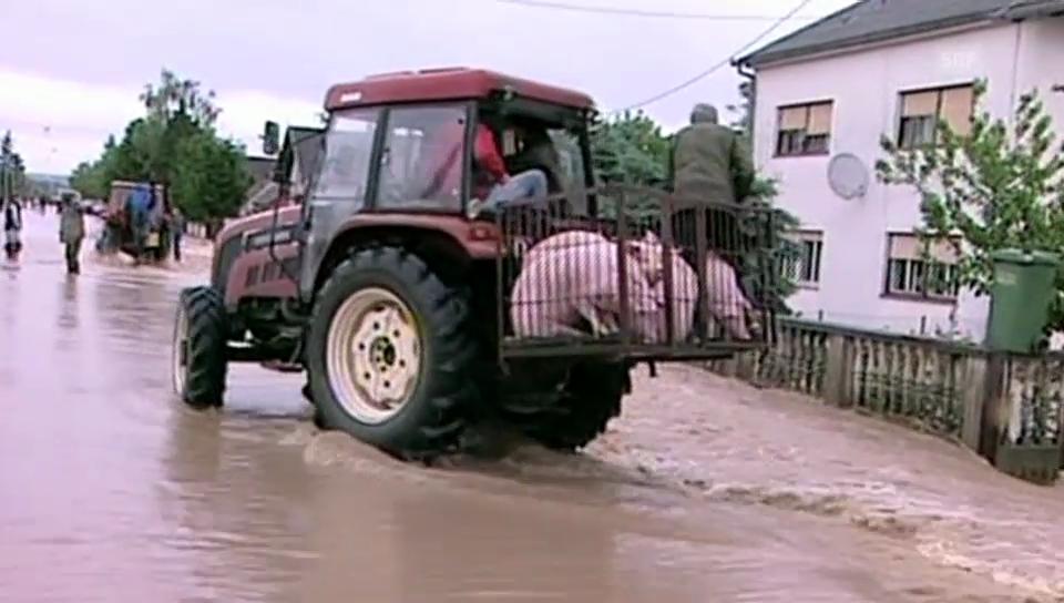 In Kroatien ist vor allem der Osten des Landes betroffen (unkomm.)