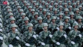 Video «Chinas Armee will aufholen» abspielen