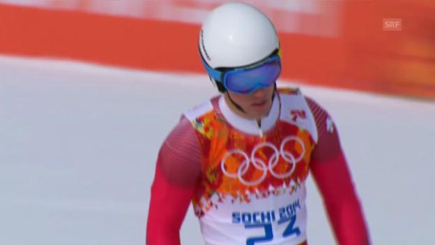 Video «Ski: Riesenslalom Männer Sotschi, 1. Lauf von Carlo Janka (sotschi direkt, 19.2.14)» abspielen