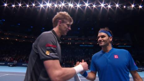 Link öffnet eine Lightbox. Video Starker Federer lässt Anderson keine Chance abspielen