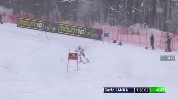 Video «Jankas Schnitzer im 2. Lauf» abspielen
