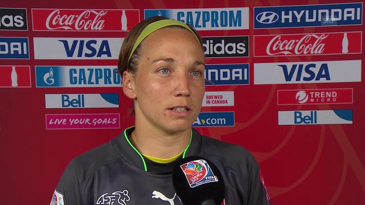 Fussball: WM Frauen, Japan-Schweiz, Interview Gaelle Thalmann