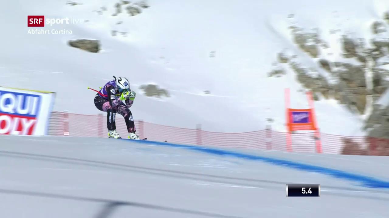 Weirathers Fahrt in Cortina