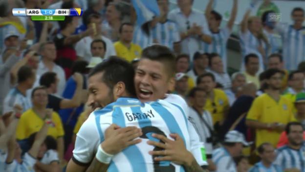 Video «FIFA WM 2014: Das 1:0 von Argentinien gegen Bosnien» abspielen