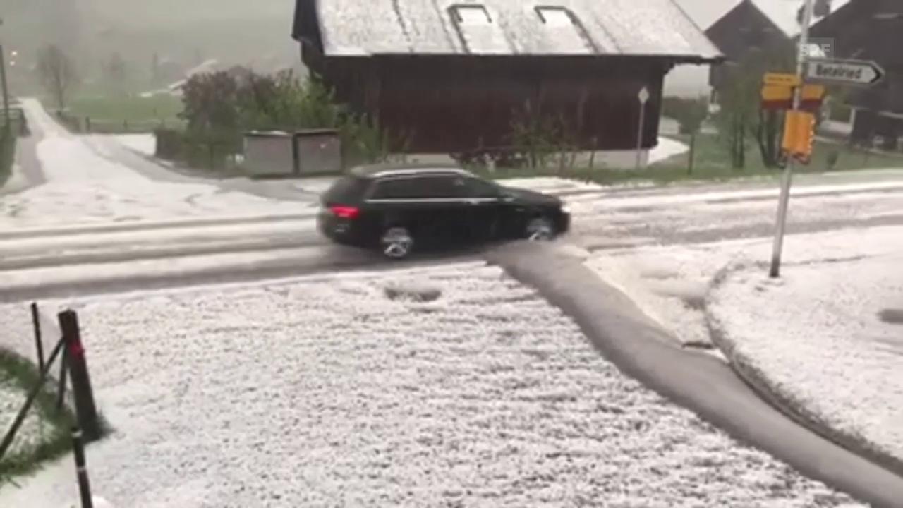 Hagelunwetter in Blankenburg bei Zweisimmen. #SRFAugenzeuge Walter Schläppi