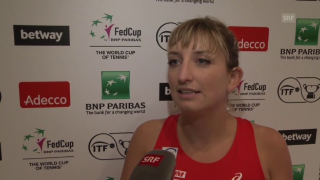 Video «Bacsinszky nach Niederlage gegen Kerber: «Sie hat viel mehr Selbstvertrauen»» abspielen